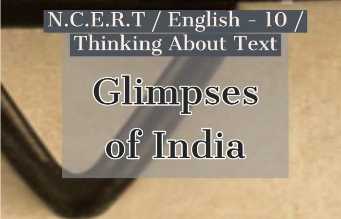 Glimpses of India Thinking about the Text