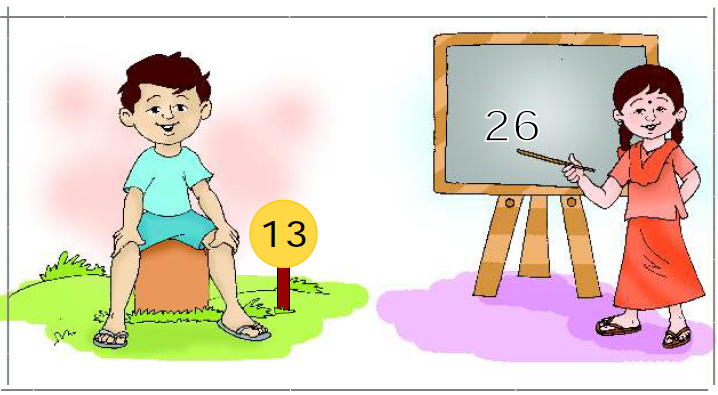 ncert solutions class 1 maths chapter 13 how many 13