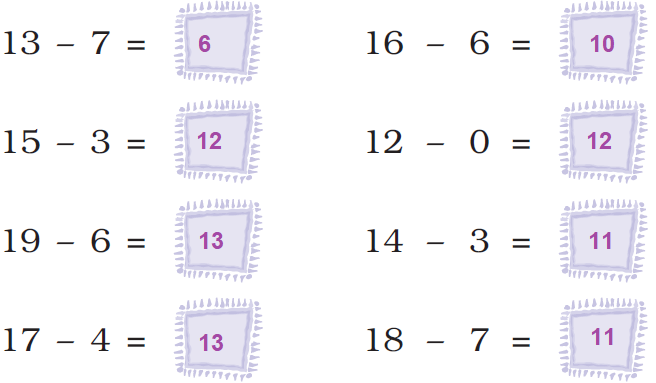 ncert solutions class 1 maths chapter 5 numbers from ten to twenty 78